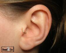 14k Gold Filled Tragus Ring Cuffs, Cartilage Fake Piercing, Fake Ear Pierce Ring
