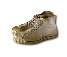 Vintage 40's 50's Springfast Athletic Hi Top Basketball Shoes Sneakers Usa Made!