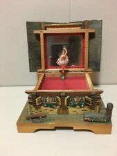 Vintage JEC Swiss Chalet Music Box with Revolving Ballerina  'Lara's Theme'