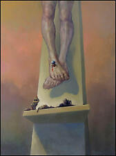 "F. KULON  ""THE CIVIC PLATFORM"" oil on canvas"
