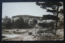 Lake Road from Hair Pin Bend Hill, Whitehall, Michigan RPPC vintage postcard