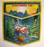ECHECONNEE 358 2-PATCH 2018 OA 100TH CENTENNIAL 2015 NOAC FLAP DELEGATE 50 MADE