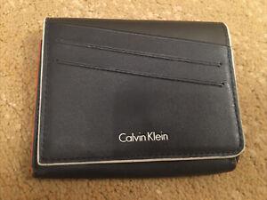Mens Calvin Klein Black Leather Wallet Purse Unisex