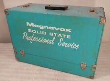 Vintage Magnavox Television TV Repairman Turquoise Box Case & PARTS