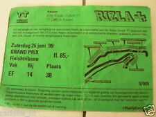 1999 TICKET DUTCH TT ASSEN 1999 GRAND PRIX,MOTO GP FINISHTRIBUNE