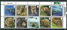 GREAT BRITAIN 2010 MAMMALS SET OF 10 TITLES UNMOUNTED MINT.