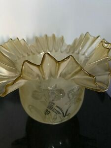 SUPERB GLASS OIL LAMP SHADE  IN EXCELLENT CONDITION NO233