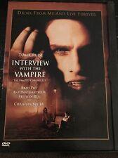 Interview With The Vampire DVD Movie Tom Cruise Brad Pitt Antonio Banderas