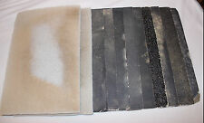 "Lot of Floor Sander 18"" x 12"" (2) Pads & (9) Paper P20 P36 P60 P80 Gently Used"