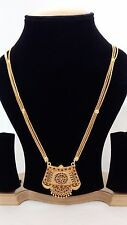 gold plated pendant set jewelery. Indian Party Wear Ethnic Traditional Bollywood