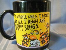 Black 'Happy Songs' Mug I'd Whistle While I Work but only know Happy Songs Cup
