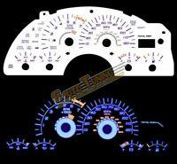 White Indiglo El Gauges Kit Glow BLUE Reverse for 99-02 Firebird V6 3.8L ONLY