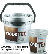 WoodTex Finitura cerata protettiva per legno, interni ed esterni 1 lt
