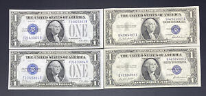 1928, 1935 ($1) ONE DOLLAR  SILVER CERTIFICATES NOTES CONSECUTIVE SETS OF TWO
