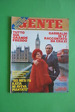 GENTE 4/1987 JOAN COLLINS SERENA GRANDI LIZ TAYLOR PIPPO BAUDO KATIA RICCIARELLI