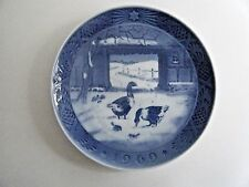 Royal Copenhagen Christmas Plate 1969 In The Old Farmyard 7 1/8""