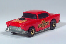 Hot Wheels Hot Ones '55 1955 Chevy Fever Hardtop Red w Flames Toy Die Cast