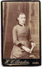 CDV Nairn Portrait of a young list girl  Photo Gordon 1890c S700