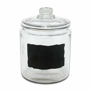 Anchor Hocking 1 Gallon Heritage Hill Cookie Jar w/ Chalkboard Label - Kitchen