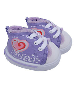 "Purple Love Heart Shoes Teddy Bear Clothes Fits Most 14"" - 18"" Build-a-bear and"