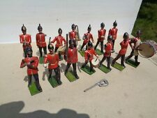 Britains Set No 27,  Band of the line lot of 14, hollowcast lead soldiers, JL