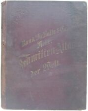 Rand McNally 1891 NEUER FAMILIEN-ATLAS DER WELT German Language World Atlas Maps
