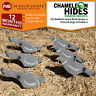12x Flocked pigeon decoys /Feeding pigeon shell decoys with pegs/ Hunting decoy