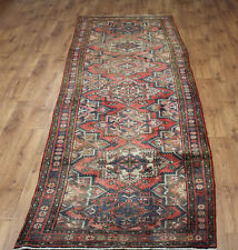 OLD WOOL HAND MADE PERSIAN ORIENTAL FLORAL RUNNER AREA RUG CARPET 389 x 112CM