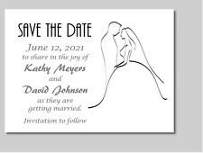 100 Personalized Custom Bride and Groom Bridal Wedding Save The Date Cards