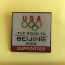 Olympic Pin - USA The Road To Beijing 2008 Supporter