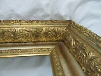 BIG ANTIQUE FITS 18 X 24 GOLD PICTURE FRAME ORNATE WOOD FINE ART COUNTRY