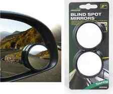 2 x CONVEX BLIND SPOT MIRROR TOWING REVERSING DRIVING SELF ADHESIVE CAR VAN BIKE