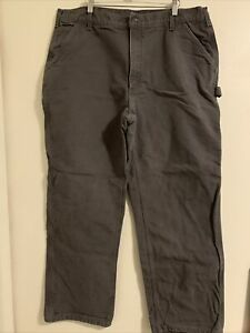Carhartt Size 40x32  Men's Original DungareeFit  Work Pant Gray Color Pocket