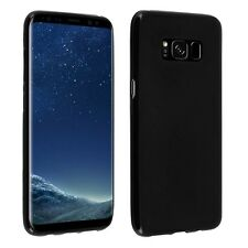 Per Samsung Galaxy S8 Plus, Guscio Di Silicone GEL Nero Ultra Sottile