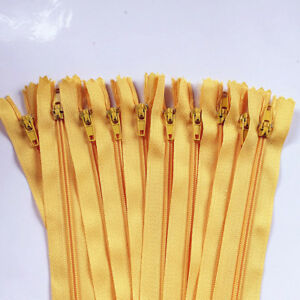 3-5Inch (7.5-12.5cm)Nylon Coil Zippers Bulk for Sewing Crafts50-100pcs(20 Color)