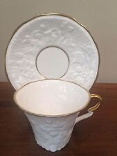 Royal Stafford OLD ENGLISH OAK GOLD Flat Cup & Saucer Set