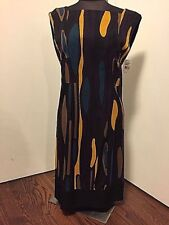 New Diane von Furstenberg TRAVELER 95% Silk Dress Size 8