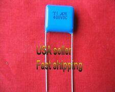 4 pc  -  .47uf  400v  (0.47uf, 470nf)  film poly capacitors FREE SHIPPING (blu)