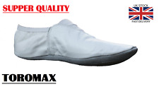 GYMNASTIC SHOES TRAMPOLINING TRAINING DANCE CUSHIONED pumps UK WHITE LEATHER