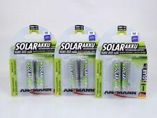 6 x Ansmann Solar Akku NiMH 800mAh Mignon AA Solarleuchten