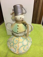 Enesco River's End Snowman with Tin Cup Hat Jim Shore 4048056 Figurine