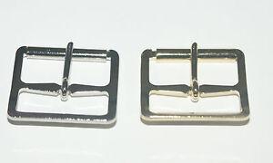 "5 PRESSED STEEL ROLLER BUCKLES 1 1/4"" - BRASS PLATED -NICKEL PLATED"