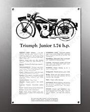 VINTAGE TRIUMPH JUNIOR 1.74 IMAGE BANNER NOS IMAGE REPRODUCTION