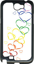 Valentine's Graduating Rainbow Hearts Samsung Galaxy Note II 2 Hard Case Cover