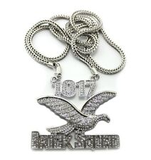 ICED OUT 1017 BRICK SQUAD PENDANT & FRANCO CHAIN..
