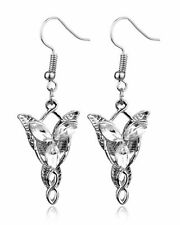 Vintage Lord of the Rings Movie Arwen Evenstar Silver Pendant Earrings