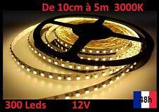 Ruban Bandeau Led Strip de 10cm à 5m 300 Leds  12V 3000K Livraison 48h offerte