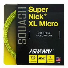 Ashaway Supernick Xl Micro Optic Yellow Squash Racket String - 9m Set