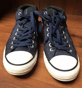 Converse All Stars  Mid High Tops,  Men's Size 8 , Blue Cordura Fabric