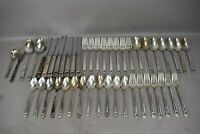 1847 Rogers Bros Flatware Set 46pc ETERNALLY YOURS Pattern Floral Silver Plate